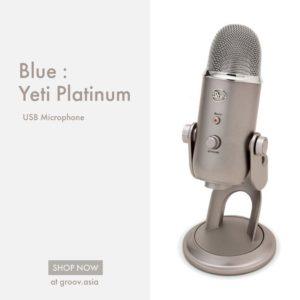 Blue Yeti (Platinum) USB Microphone คุณภาพระดับ professional